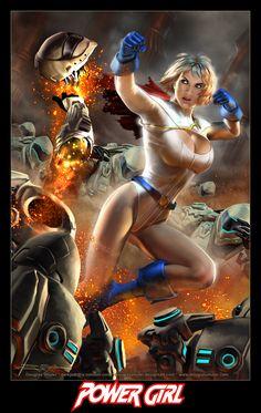 POWER GIRL on Apokolips by DouglasShuler.deviantart.com