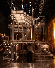 Set components used in the 2009's prod of Idomeneo in Aix Festival. Stage direction was done by Olivier PY while scenography was dealt with by Pierre-André WEITZ