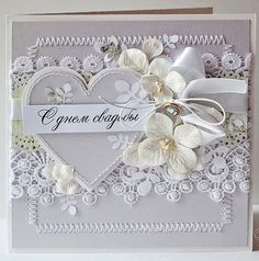 Tussa E-post :: Her er noen Pins vi tror du vil like Wedding Cards Handmade, Greeting Cards Handmade, Pretty Cards, Love Cards, Scrapbooking, Scrapbook Cards, Shabby Chic Cards, Engagement Cards, Wedding Anniversary Cards