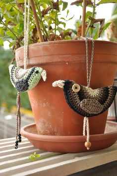 Birdie Decoration By Lucy Of Attic24 - Free Crochet Pattern - (ravelry)