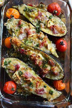 詰めてトースターで焼くだけ。パルミジャーノとハムのナスボート by 青山清美(金魚)   レシピサイト「Nadia   ナディア」プロの料理を無料で検索