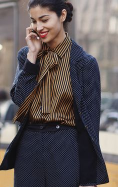 b0ec9df62a6 Dots and Stripes and colors. http   images.thesartorialist.com