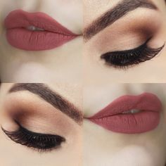 Make Classic Opaque + Lipstick Gaia_Pause For Feminices - Makeup Looks Classic Prom Makeup, Wedding Hair And Makeup, Bridal Makeup, Hair Makeup, Wedding Nails, Bridal Nails, Makeup Lipstick, Makeup Hairstyle, Lipsticks