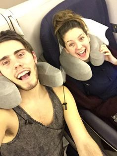 Zalfie on the plane British Youtubers, Zoe Sugg, Zoella, Girlfriends, Fangirl, Celebs, Relationship, In This Moment, Couples