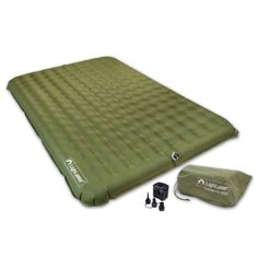 Buy Lightspeed Outdoors 2 Person PVC-Free Air Bed Mattress for Camping and Travel Inflatable Bed, Camping Mattress, Best Insulation, California King Bedding, Beach Gear, Camping Gear, Bag Storage, Zip Around Wallet, Pumps