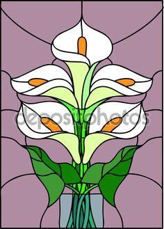 Ramo de flores de lirio - Ilustración de stock: 82358062