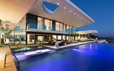 From the infinity pool, to the outdoor skylight...this house is absolutely and dangerously divine. I am IN LOVE!