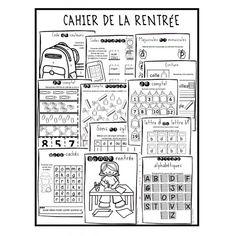 Cahier de la rentrée 1ère année First Day Of School Activities, School Fun, Learning Activities, Kids Learning, Teaching Ideas, Reading Help, Guided Reading, French Teacher, Teaching French