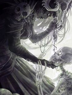The Necromancer Art Print by skepticArcher - X-Small Dark Fantasy Art, Fantasy Story, Orishas Yoruba, Horror, Skull Artwork, Gothic Artwork, Necromancer, Dark Gothic, Angels And Demons