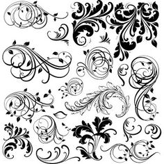 Free downloadable graphic flourishes. These would be good for models for painting onto other things.