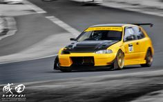 The Yellow Factory Honda Civic EG via http://thenaritadogfight.com/