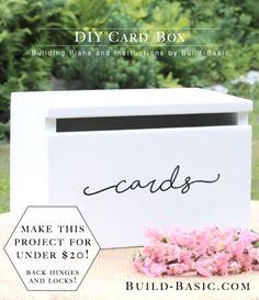 Build a DIY Card Box – Building Plans by @BuildBasic www.build-basic.com
