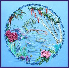 New Brazilian Embroidery Designs | ... Brazilian dimensional embroidery is from one of my newest Millefiori