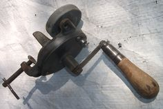 Small  Working Antique Hand Cranked grinder, $29