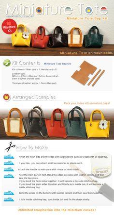 Miniature Tote Bag Kit | LeatherCraftTools.com