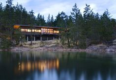 Balance Associates designed a residence on Cortes Island in British Columbia, Canada.