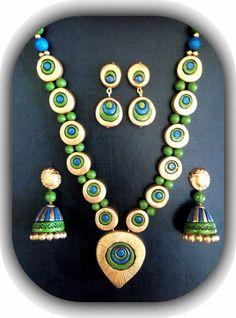 Buy Terracotta Jewellery on-line Terracotta Jewellery Online, Terracotta Jewellery Designs, Terracota Jewellery, Funky Jewelry, Jewelry Art, Beaded Jewelry, Jewelry Design, Gold Jewellery, Jewlery