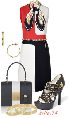 """A Date with Michael Kors"" by kelley74 ❤ liked on Polyvore"