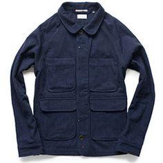 Italian Indigo Wool Chore Jacket Kaufmann-Mercantile