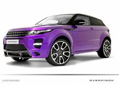 Purple Range Rover Evoque GTS