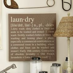 Laundry Giclee | Ballard Designs.  Need to figure out how to make this for less than $129.00.