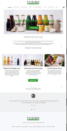 Fusion Lab Juice Cleanses are an advance on traditional medical thinking about how to best achieve a sense of physical and mental well-being in the shortest possible time. Juice Cleanses, Portfolio Web Design, Physics, Lab, Conditioner, Medicine, Traditional, How To Plan, Medical