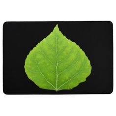 Green Aspen Leaf #11 Floor Mat - spring gifts style season unique special cyo