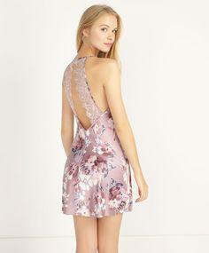 Purple flower nightdress - OYSHO