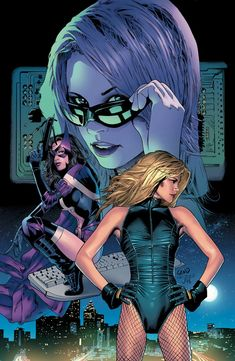 The Birds of Prey are a group of female heroes headed by Barbara Gordon. Though the team's roster tends to rotate, the mainstays of the group have been Oracle/Batgirl, Black Canary, and Huntress. Marvel Comics, Arte Dc Comics, Dc Comics Art, Comics Girls, Marvel Avengers, Comic Book Artists, Comic Book Characters, Comic Character, Comic Books Art
