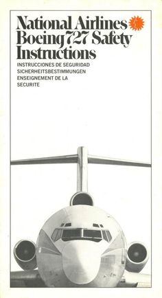 National Airlines 727 Safety card