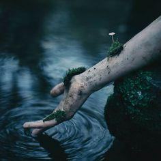 """The Ripple Effect of Life & Death"" —  Photographer/Concept/Model: Danny Richardson Photography  #DarkBeauty #DarkBeautyMag #conceptual #selfportrait #photography"