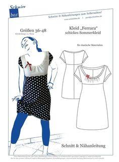 Nähanleitung und Schnittmuster Kleid Ferrara - Schnittmuster und Nähanleitungen bei makerist
