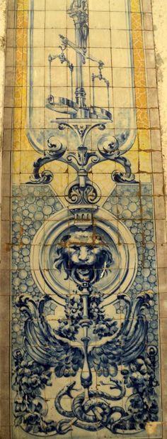 Antique tiles in Lisbon, Portugal