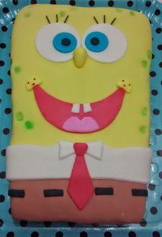 Bolo decorado Bob Esponja, Sponge Bob cake