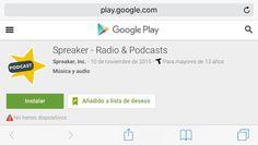 Nueva App @Spreaker Radio & Podcast #Android   Ya quiero tenerla! Avisa cuando comienzan los episodios en directo y así podrás entrar al chat de #ElSiglo21esHoy    Descarga la nueva App Spreaker Radio & Podcast para Android en:  http://ift.tt/1GWItBF  Yo personalmente no tengo hoy un Android y aún así añadí la App a mi lista de deseos.   _________  Esta es la información de prensa:  Spreaker lanza Podcast Radio la nueva app Android para escuchar podcasts  Será posible escuchar canales…