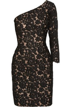 Notte by Marchesa One shoulder lace dress   60% Off Now at THE OUTNET