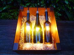 Lámpara colgante de botellas por LumiereDouce en Etsy