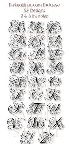 "Maisie Monogram Font Set - 4"" and 5""- Machine Embroidery Font Alphabet Letters…"