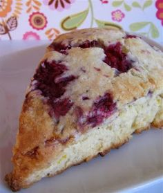 Raspberry Scottish Cream Scones