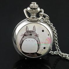 Neighbor Totoro Necklace Pocket Watch