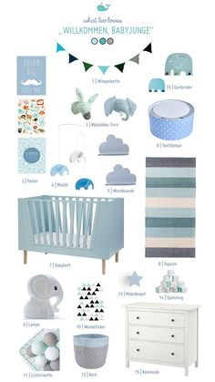 Decorating Baby's Bedroom or Nursery – The Necessities Baby Boy Room Decor, Baby Room Design, Baby Boy Rooms, Baby Bedroom, Baby Boy Nurseries, Nursery Room, Room Decor Bedroom, Girl Room, Kids Bedroom