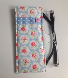 Cath Kidston Blue Provence Fabric Glasses Case by sewmoira on Etsy