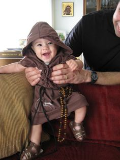 Baby Friar and more cute costume ideas for All Saint's Day! Catholic Feast Days, Catholic Kids, Roman Catholic, Cute Costumes, Costume Ideas, Holidays Halloween, Halloween Decorations, Saint Costume, All Saints Day