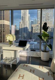 Apartment Goals, Dream Apartment, City Apartment Decor, Apartment Interior, Dream Home Design, My Dream Home, Dream Life, Appartement Design, Aesthetic Room Decor