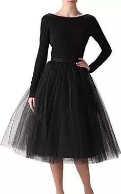Damen Langer Rock Kleid Bauschig Swan Tutu Tüll Asymmetrisch Ballett Prinzessin