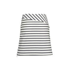 Armani Jeans Navy Blue & White Stripe Stretch Cotton Skirt ($174) ❤ liked on Polyvore featuring skirts, mini skirts, striped mini skirt, navy blue and white skirt, navy blue a line skirt, navy blue mini skirt and a line mini skirt