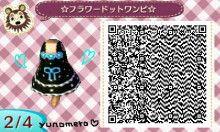 * Tobimori * ゜ My Design ☆ Flower Dot Dress ☆ ☆ QR Code ☆   ☆ ゆ な め ろ ☆ コ コ ッ ト 村 * ゜ 森 ブ ロ グ ☆
