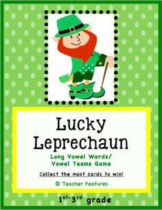 "May the Luck o' the Irish be with you! A great center game for practicing Long Vowel sounds. Vowel teams and VC-e words are included. A very easy game to differentiate. Your students will have a blast when they ""steal"" cards from other students who sit next to them! (98 cards/ 14 pages)"