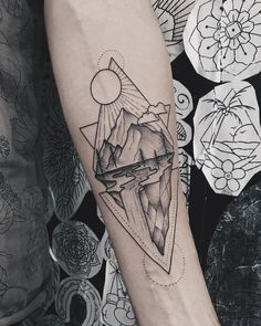 Forearm Tattoo Ideas - Forearm Tattoo Designs With Meaning - . - Forearm Tattoo Ideas – Forearm Tattoo Designs With Meaning – Forearm Tattoos - Geometric Tattoo Forearm, Geometric Tattoos Men, Forearm Tattoo Design, Modern Tattoos, Geometric Tattoo Design, Small Tattoos, Geometric Tattoo Nature, Tattoo Triangle, Geometric Mountain Tattoo