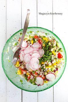 Fresh vegetables and barley salad | Sałatka z kasza jęczmienną i świeżymi warzywami